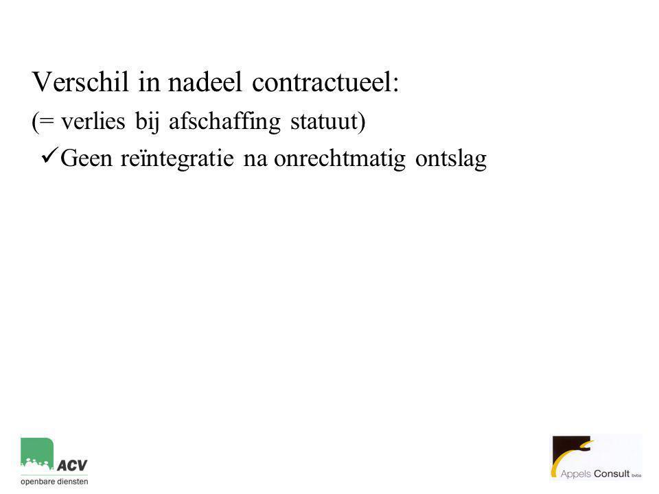 Verschil in nadeel contractueel: