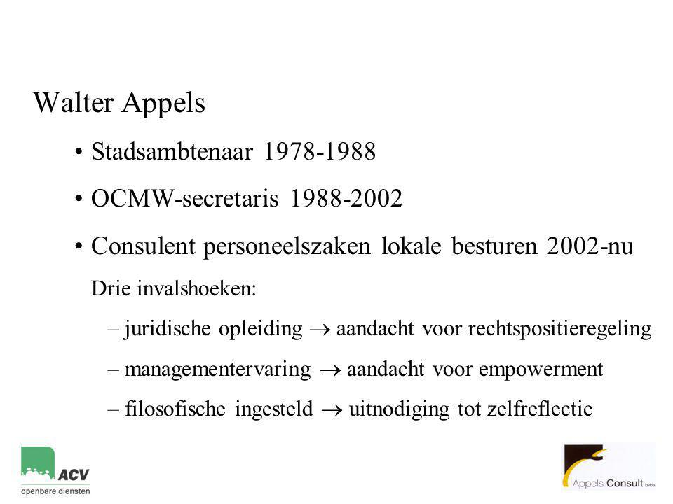 Consulent personeelszaken lokale besturen 2002-nu