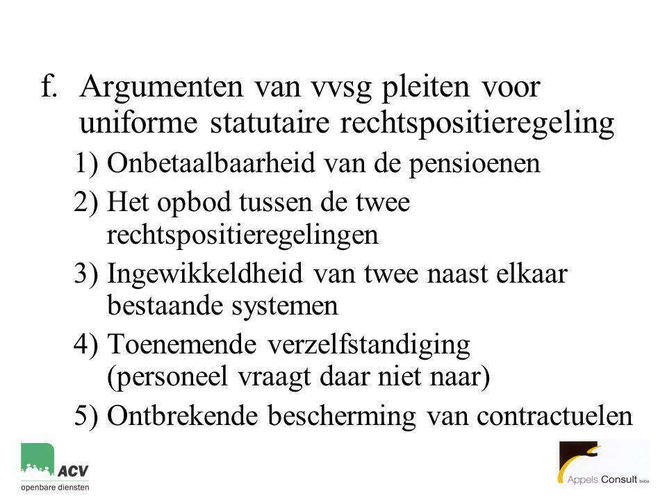 Argumenten van vvsg pleiten voor uniforme statutaire rechtspositieregeling