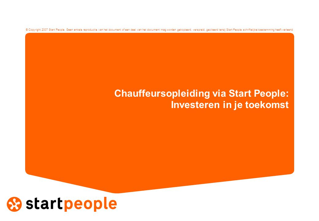 Chauffeursopleiding via Start People: Investeren in je toekomst
