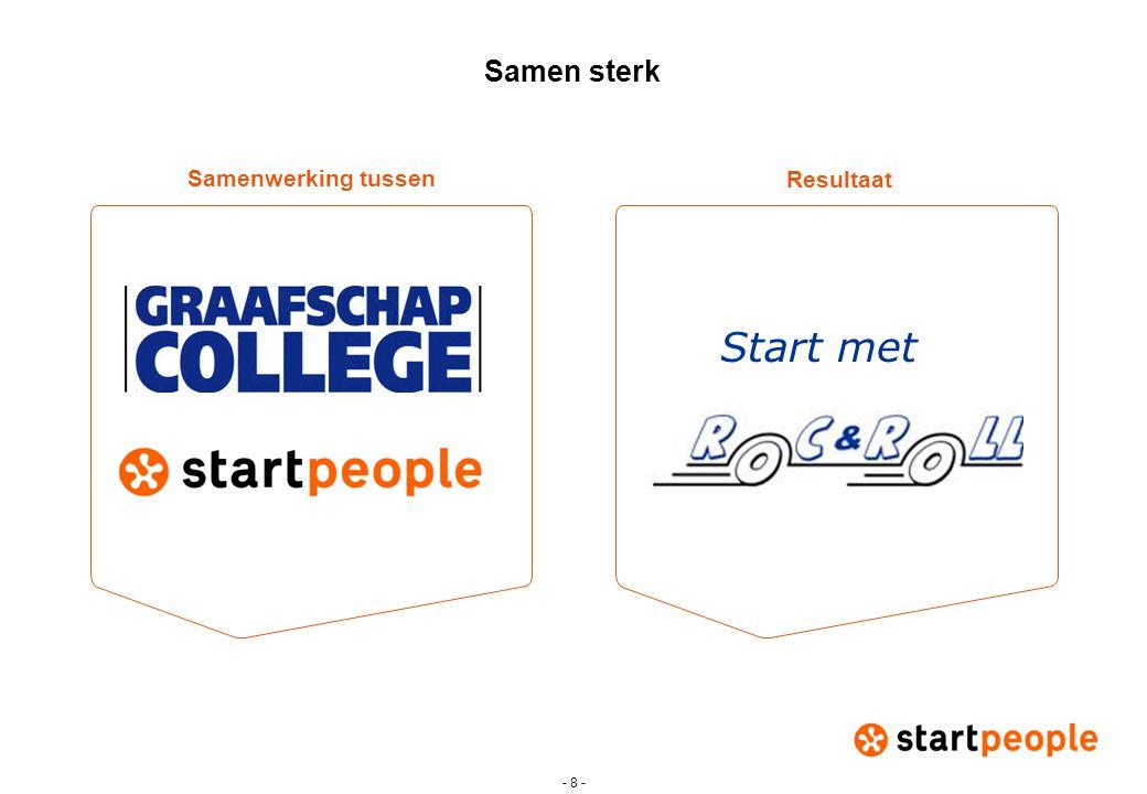 Samen sterk Resultaat Samenwerking tussen Start met - 8 -