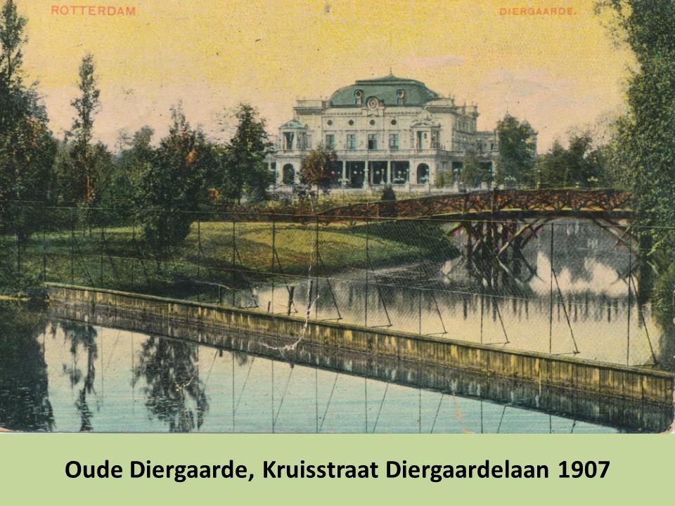 Oude Diergaarde, Kruisstraat Diergaardelaan 1907