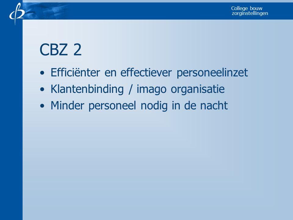 CBZ 2 Efficiënter en effectiever personeelinzet