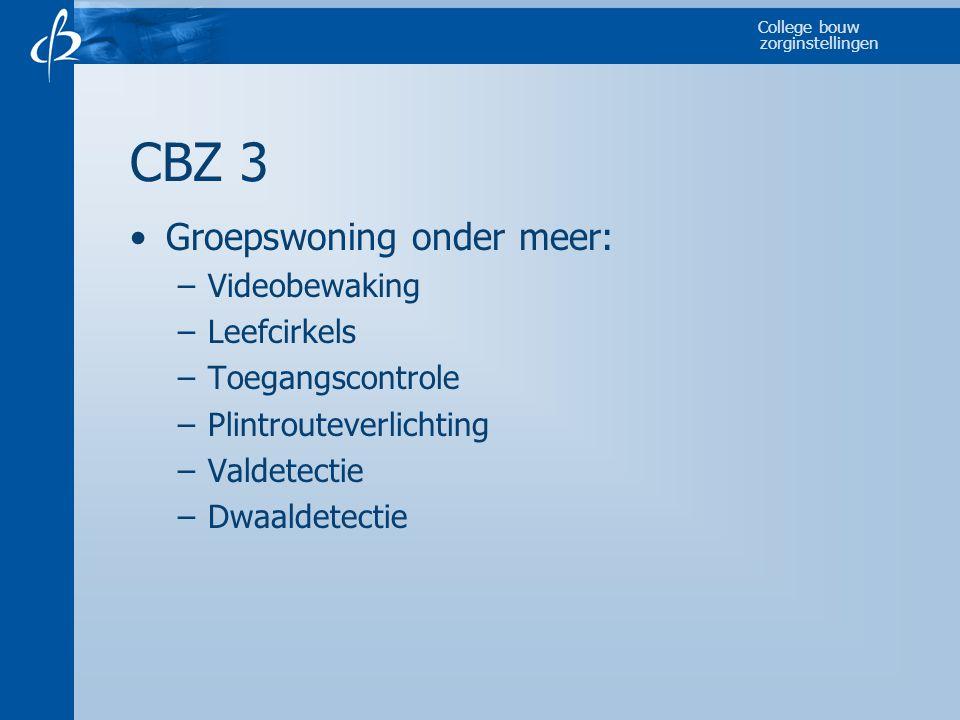 CBZ 3 Groepswoning onder meer: Videobewaking Leefcirkels