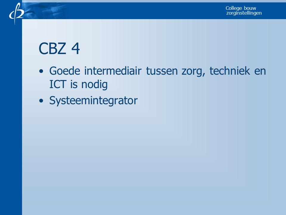 CBZ 4 Goede intermediair tussen zorg, techniek en ICT is nodig
