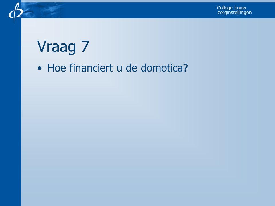 Vraag 7 Hoe financiert u de domotica