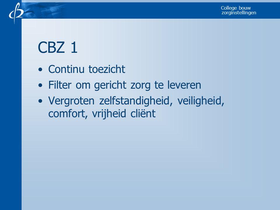 CBZ 1 Continu toezicht Filter om gericht zorg te leveren