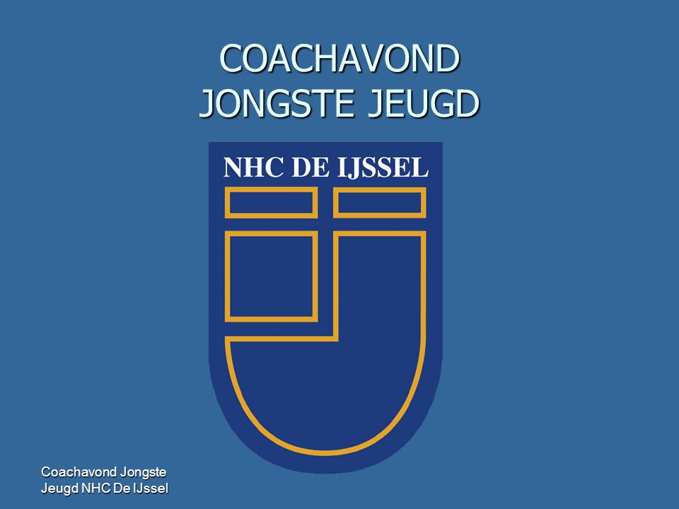 COACHAVOND JONGSTE JEUGD