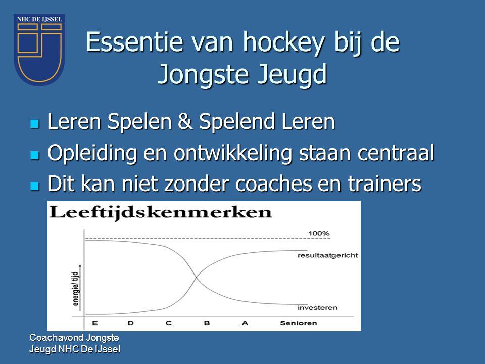 Essentie van hockey bij de Jongste Jeugd