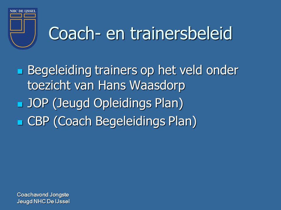Coach- en trainersbeleid