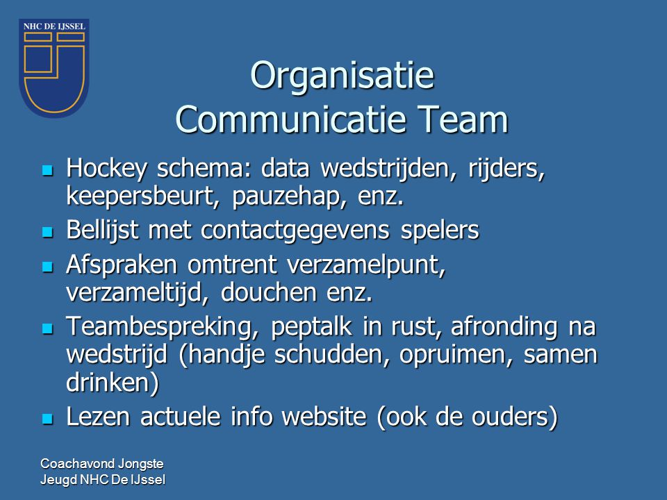 Organisatie Communicatie Team