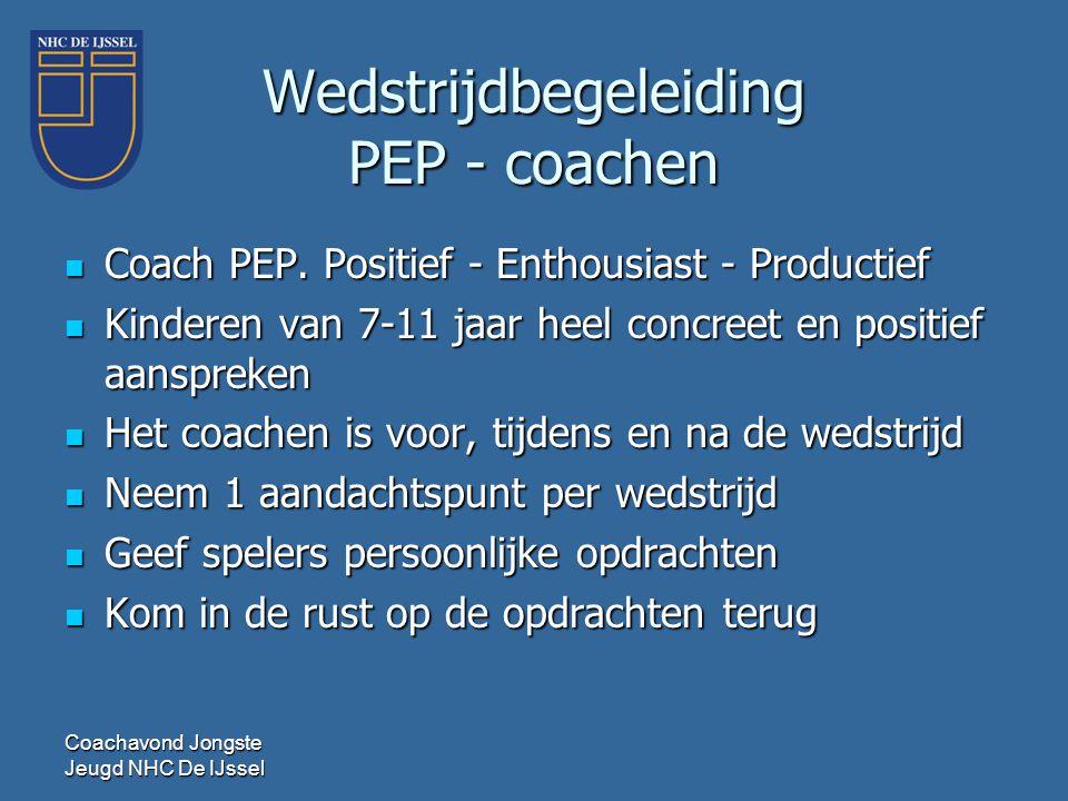 Wedstrijdbegeleiding PEP - coachen