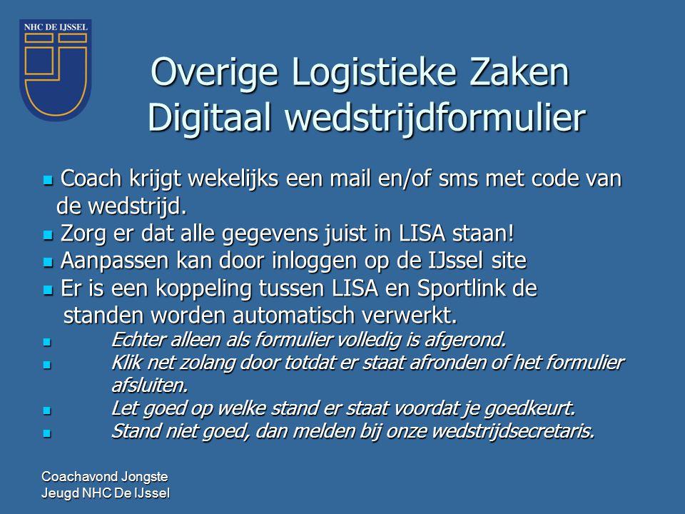 Overige Logistieke Zaken Digitaal wedstrijdformulier