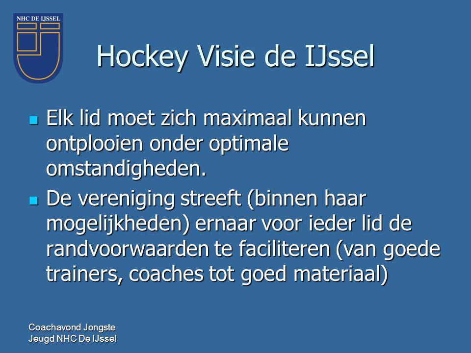 Hockey Visie de IJssel Elk lid moet zich maximaal kunnen ontplooien onder optimale omstandigheden.