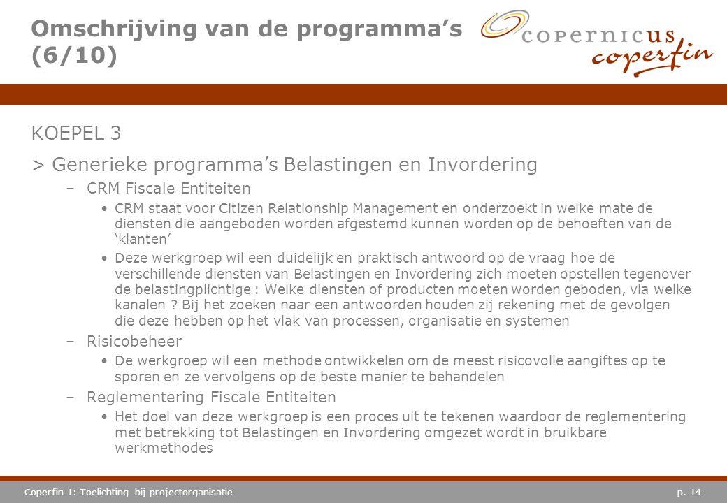 Omschrijving van de programma's (6/10)
