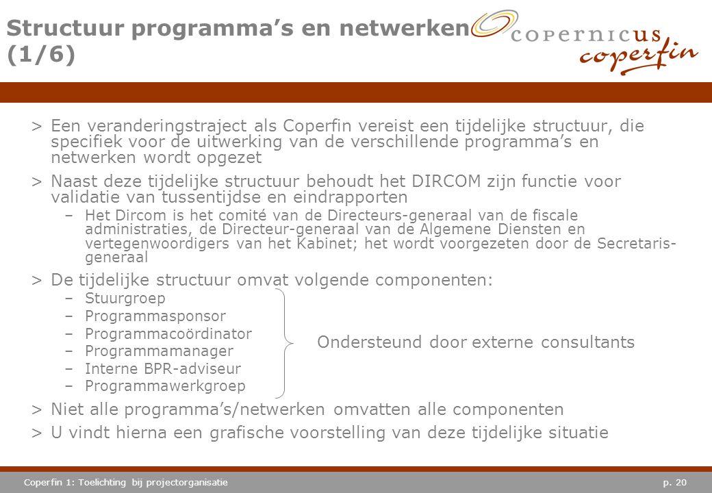 Structuur programma's en netwerken (1/6)