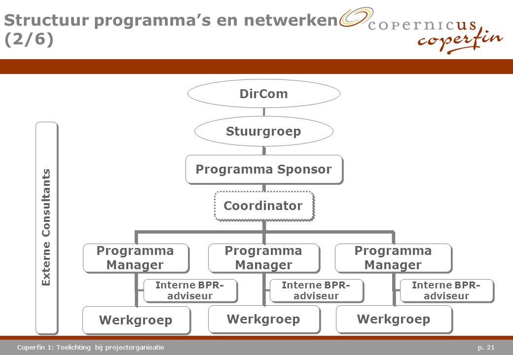 Structuur programma's en netwerken (2/6)