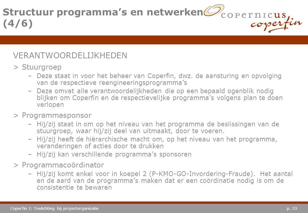 Structuur programma's en netwerken (4/6)