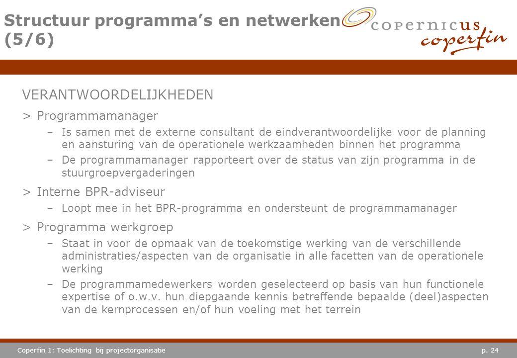 Structuur programma's en netwerken (5/6)