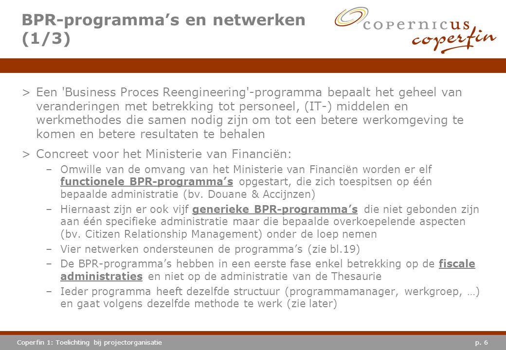 BPR-programma's en netwerken (1/3)