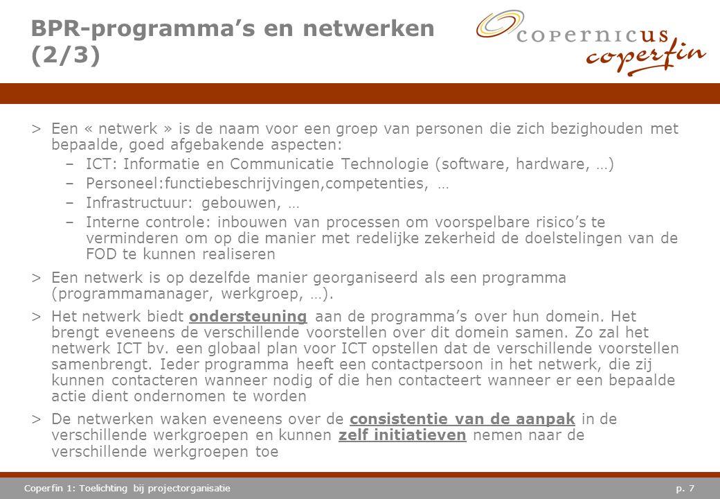 BPR-programma's en netwerken (2/3)