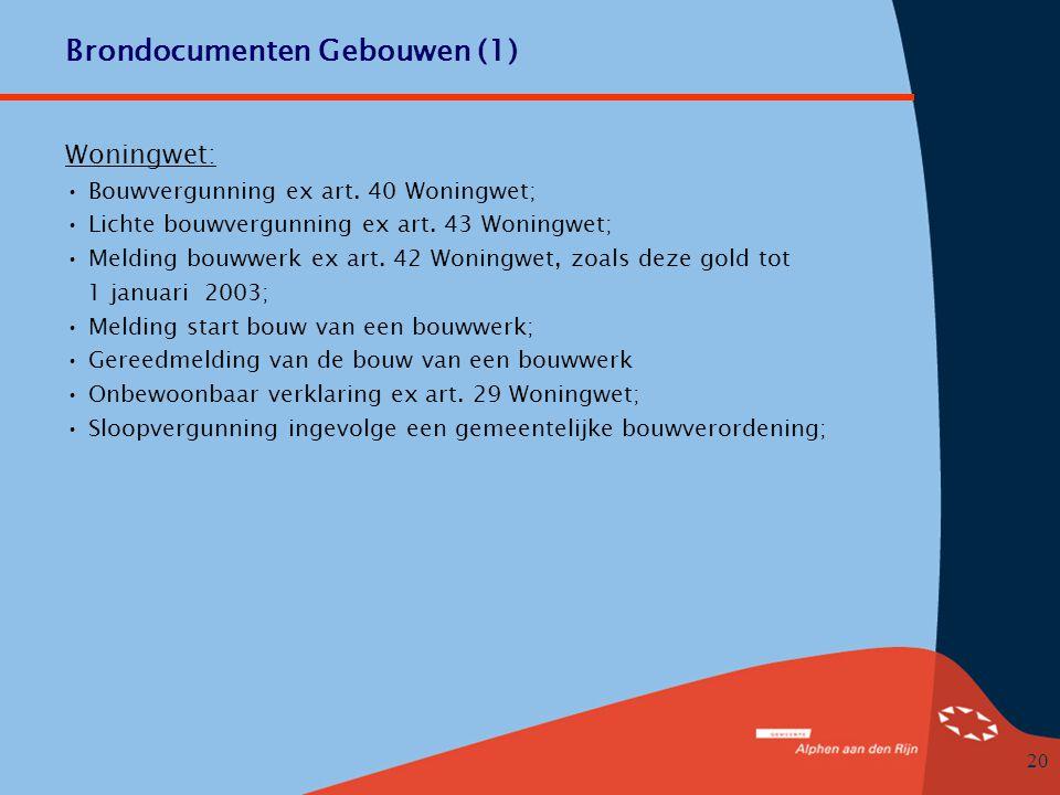 Brondocumenten Gebouwen (1)