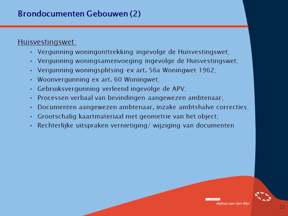 Brondocumenten Gebouwen (2)