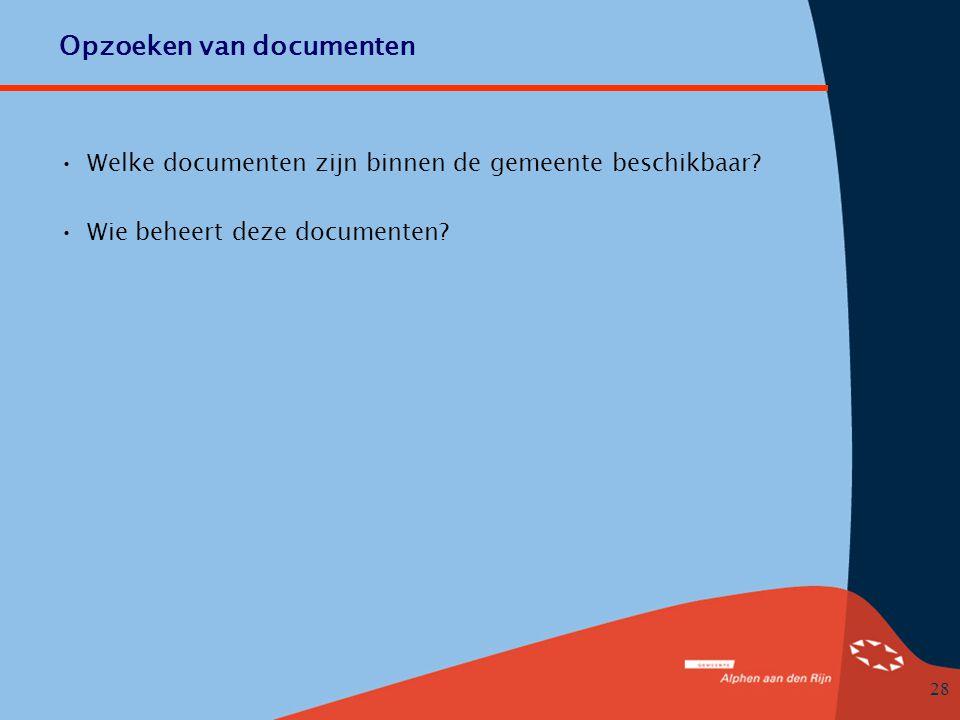 Opzoeken van documenten