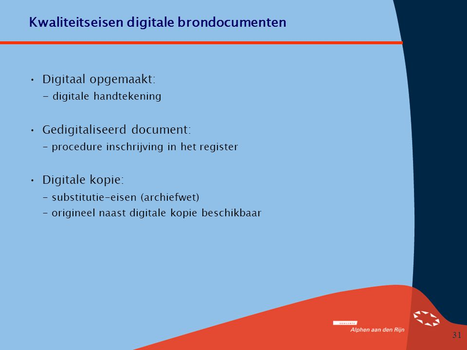 Kwaliteitseisen digitale brondocumenten