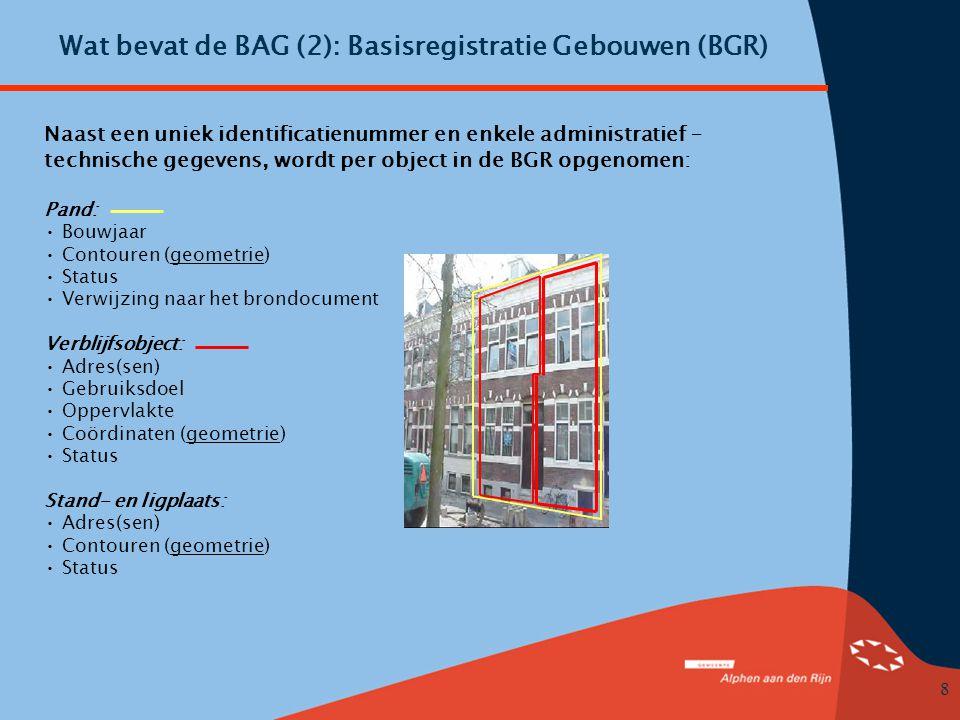 Wat bevat de BAG (2): Basisregistratie Gebouwen (BGR)