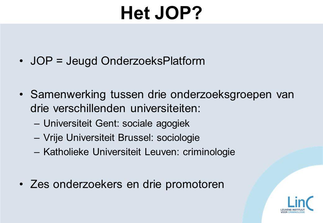 Het JOP JOP = Jeugd OnderzoeksPlatform