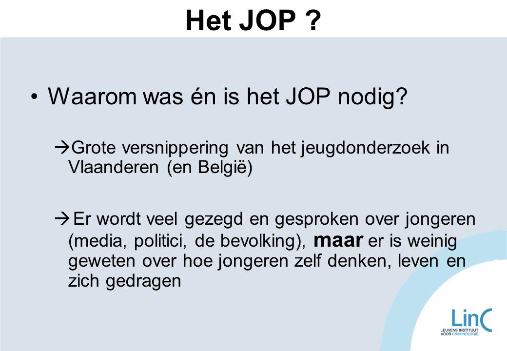 Het JOP Waarom was én is het JOP nodig