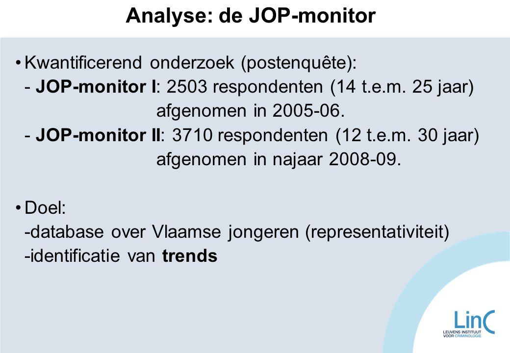 Analyse: de JOP-monitor