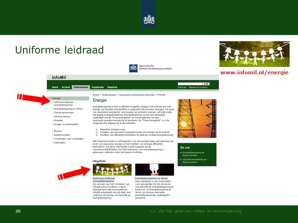 Uniforme leidraad www.infomil.nl/energie