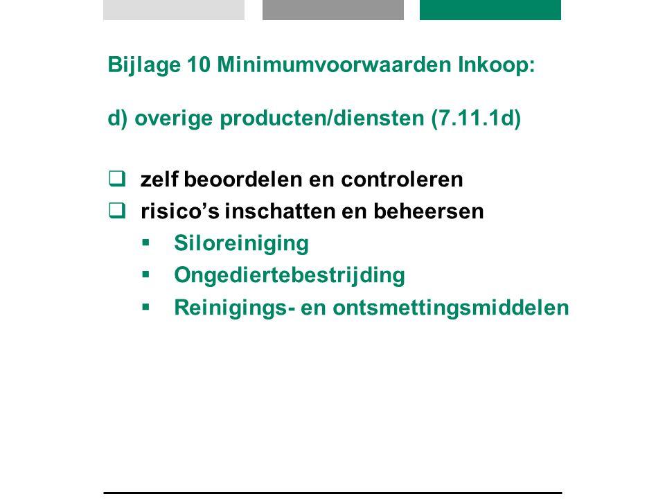 Bijlage 10 Minimumvoorwaarden Inkoop: d) overige producten/diensten (7