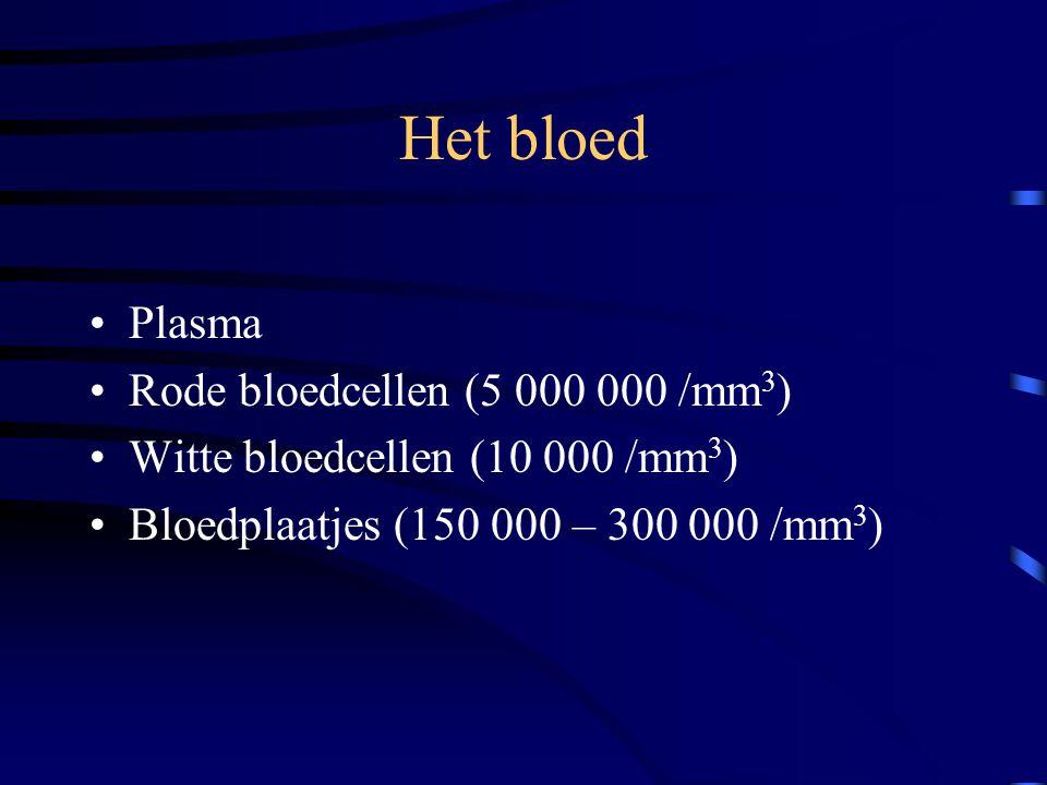 Het bloed Plasma Rode bloedcellen (5 000 000 /mm3)
