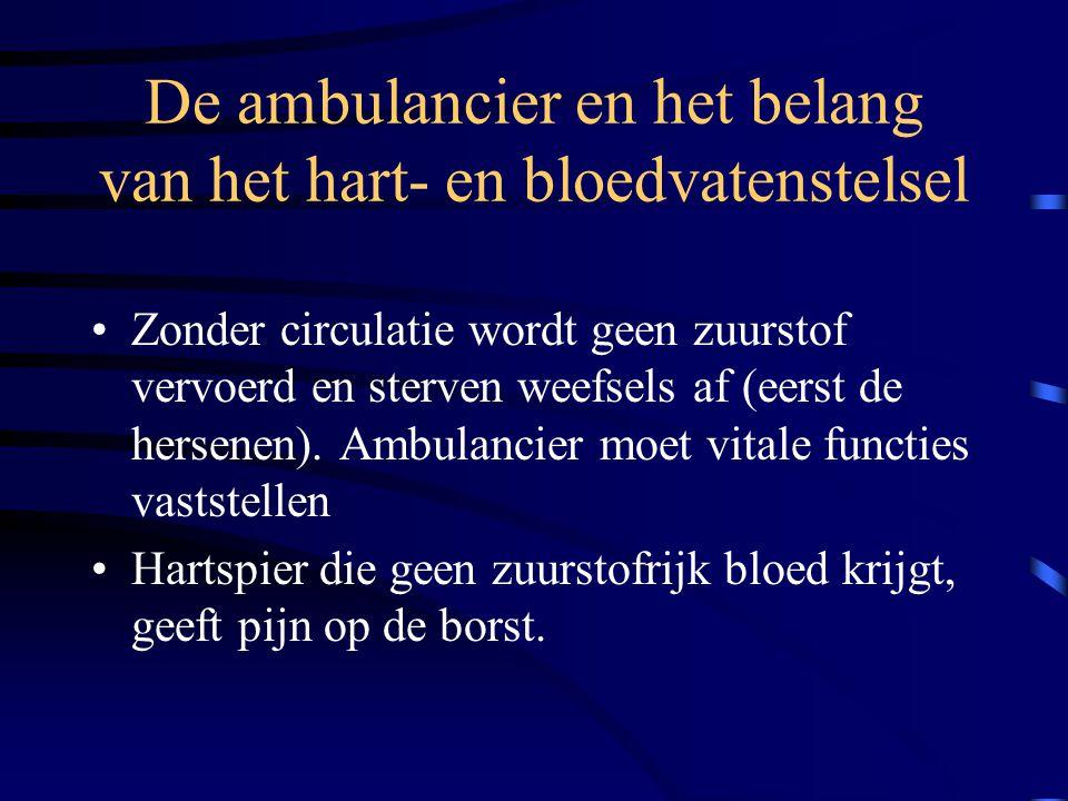 De ambulancier en het belang van het hart- en bloedvatenstelsel