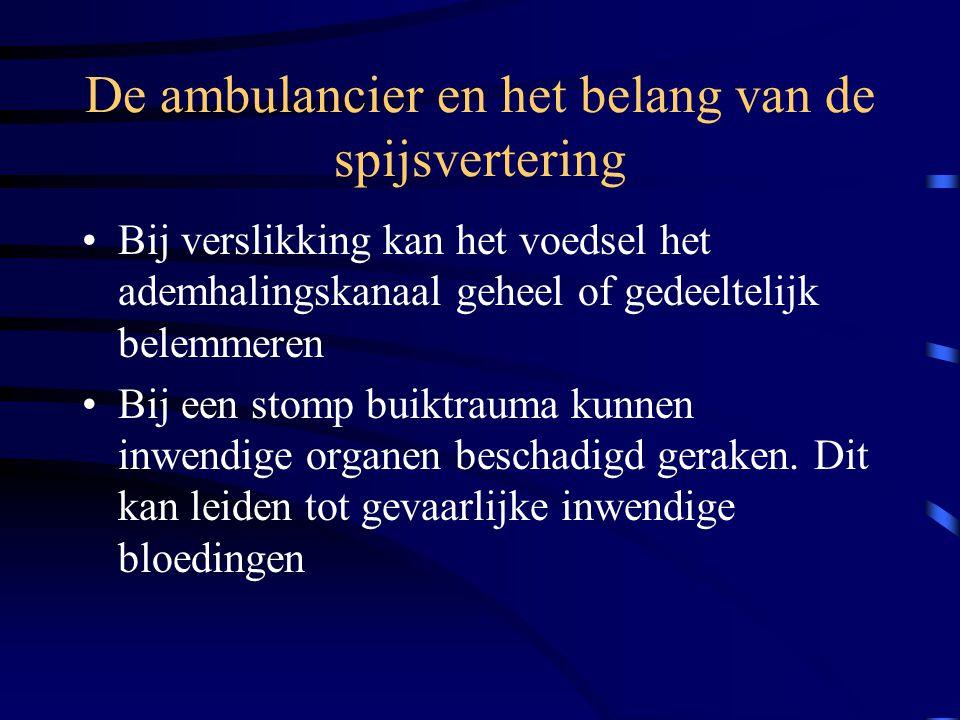 De ambulancier en het belang van de spijsvertering