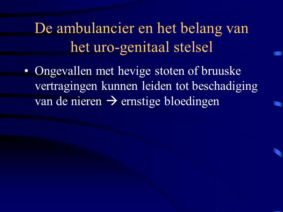 De ambulancier en het belang van het uro-genitaal stelsel