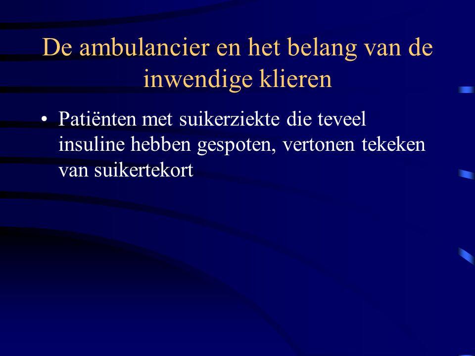 De ambulancier en het belang van de inwendige klieren