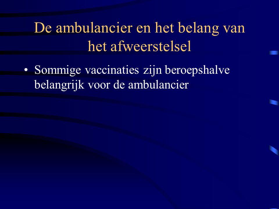 De ambulancier en het belang van het afweerstelsel