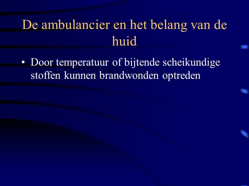 De ambulancier en het belang van de huid