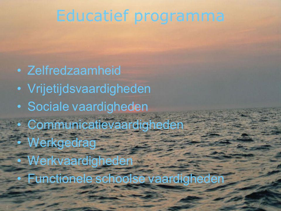 Educatief programma Zelfredzaamheid Vrijetijdsvaardigheden