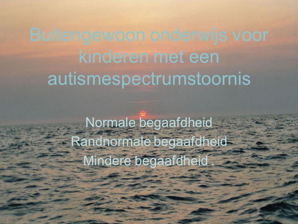 Buitengewoon onderwijs voor kinderen met een autismespectrumstoornis