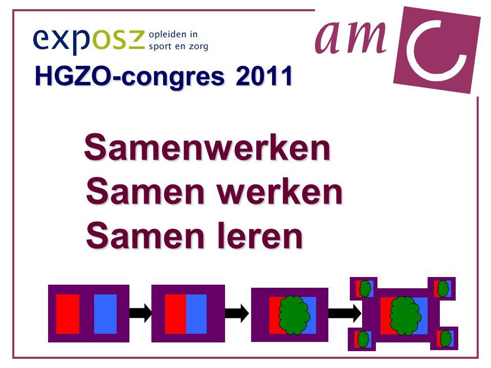 HGZO-congres 2011 Samenwerken Samen werken Samen leren