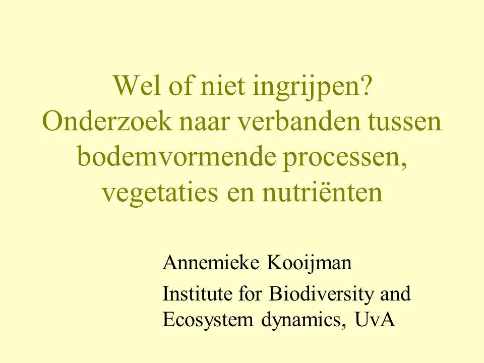 Wel of niet ingrijpen Onderzoek naar verbanden tussen bodemvormende processen, vegetaties en nutriënten