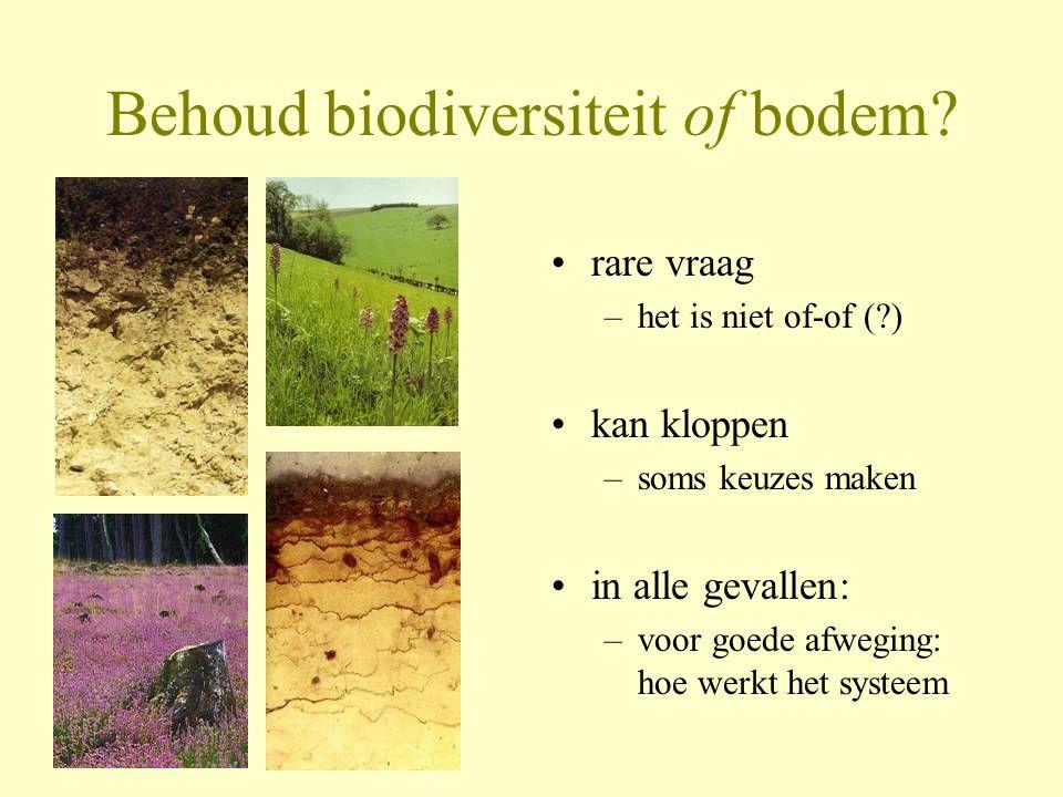 Behoud biodiversiteit of bodem
