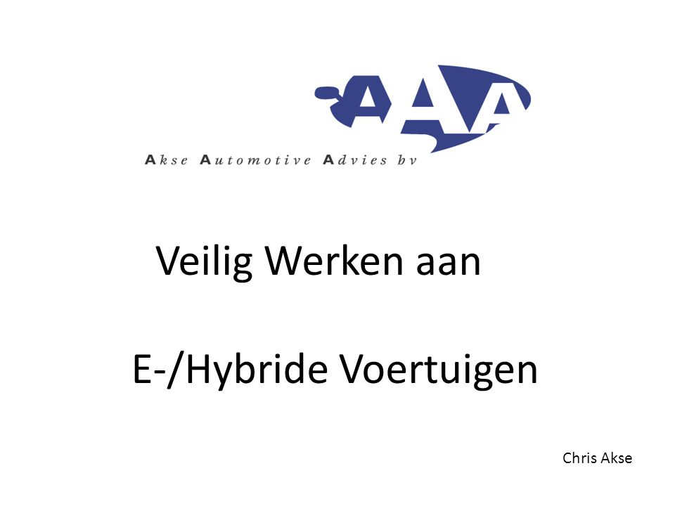E-/Hybride Voertuigen
