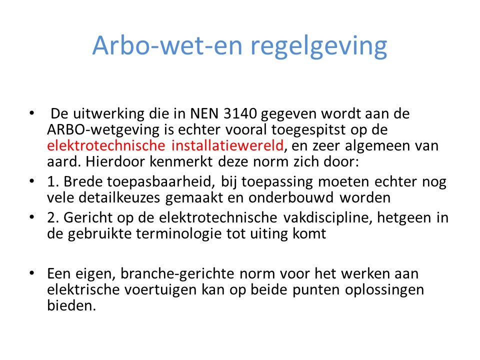 Arbo-wet-en regelgeving