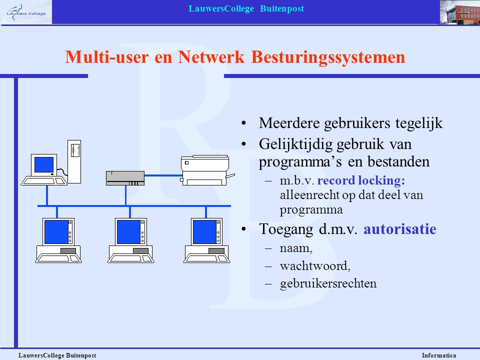 Multi-user en Netwerk Besturingssystemen